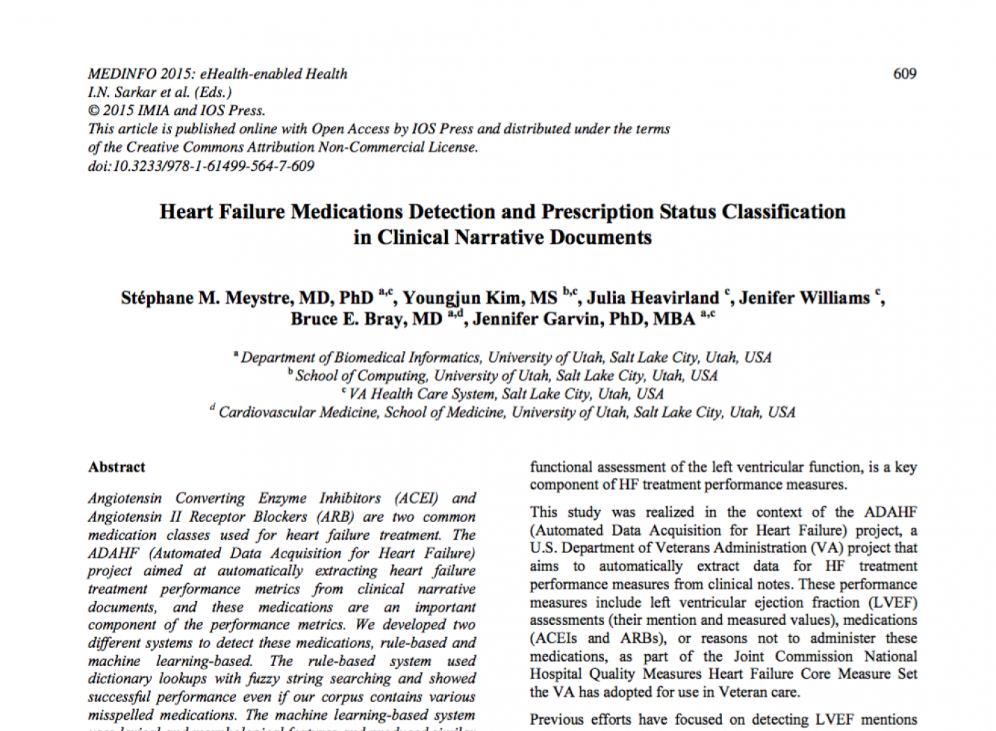 Heart Failure Medications Detection and Prescription Status Classification in Clinical Narrative Documents