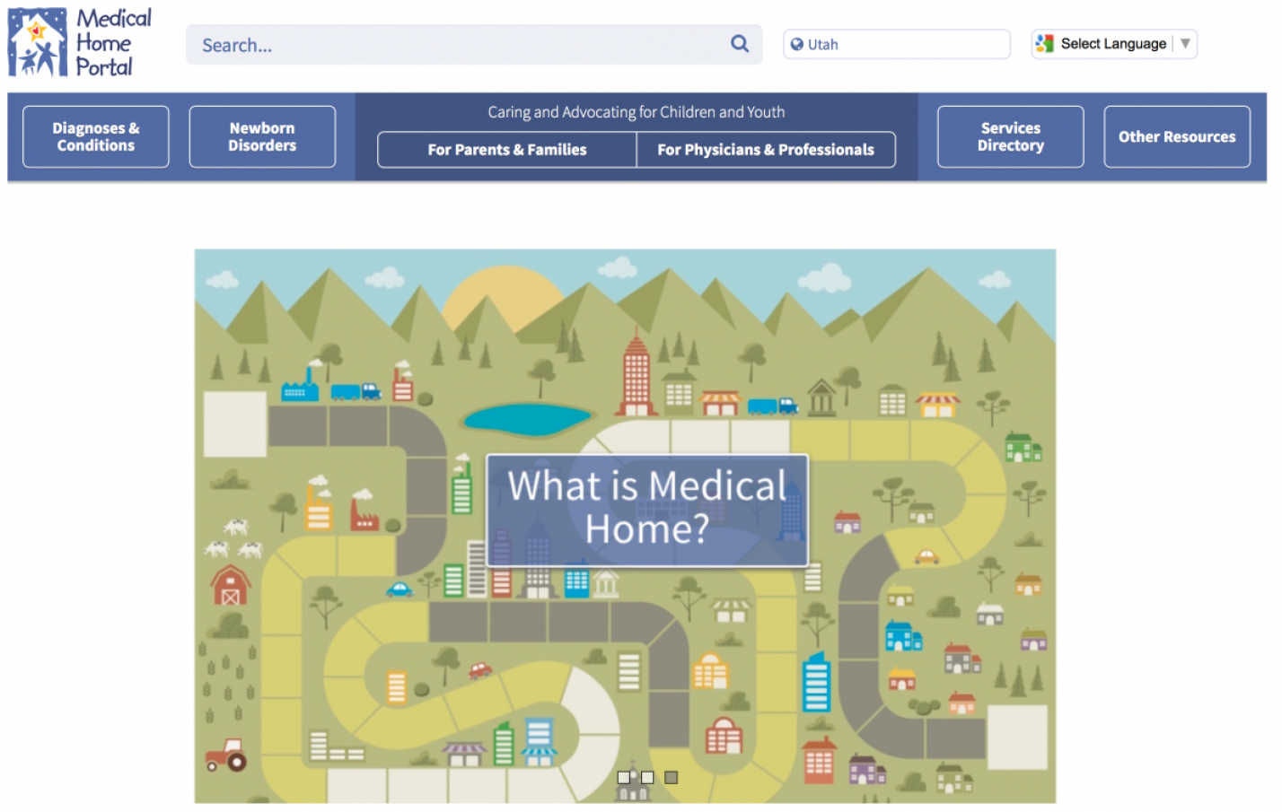 Biomedical content management and presentation (Medical Home Portal)
