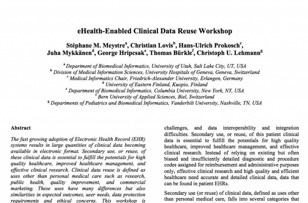 eHealth-Enabled Clinical Data Reuse