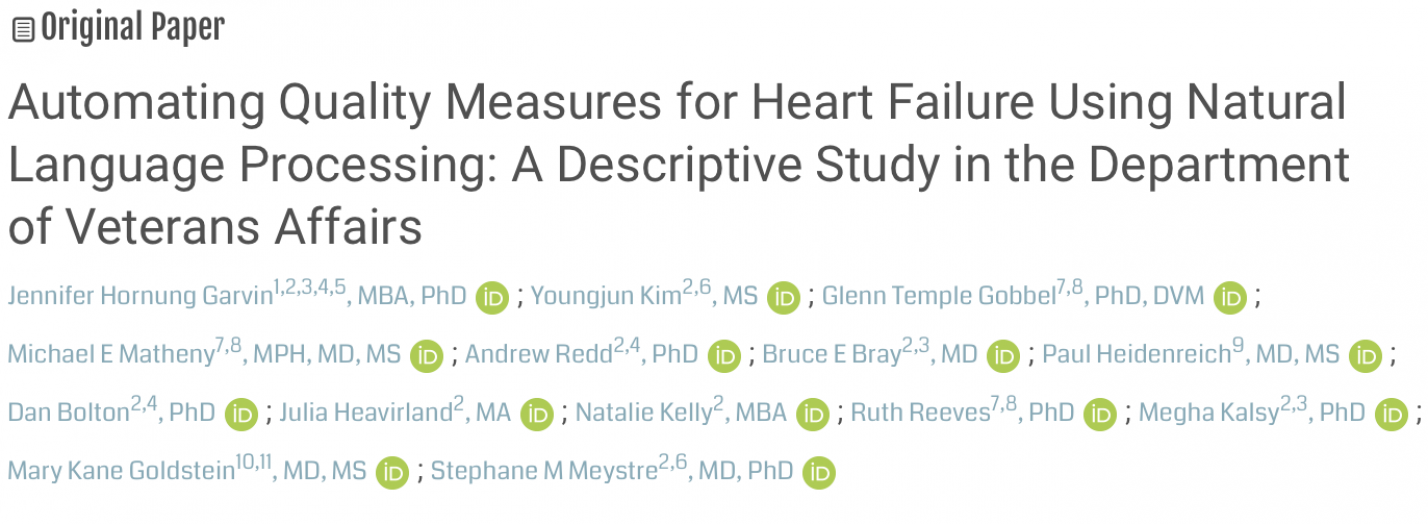 Automating Quality Measures for Heart Failure Using Natural Language Processing: A Descriptive Study in the Department of Veterans Affairs
