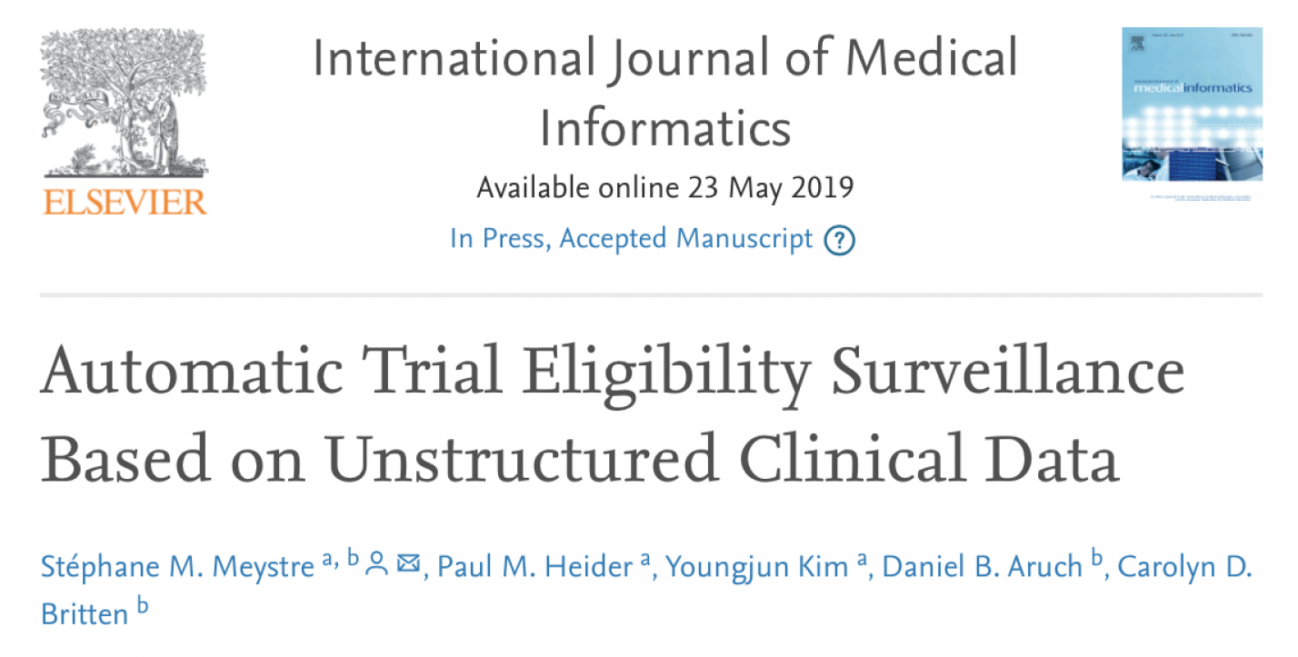 Automatic Trial Eligibility Surveillance Based on Unstructured Clinical Data
