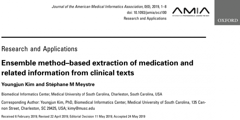 Ensemble Method-based Extraction of Medication and Related Information from Clinical Texts