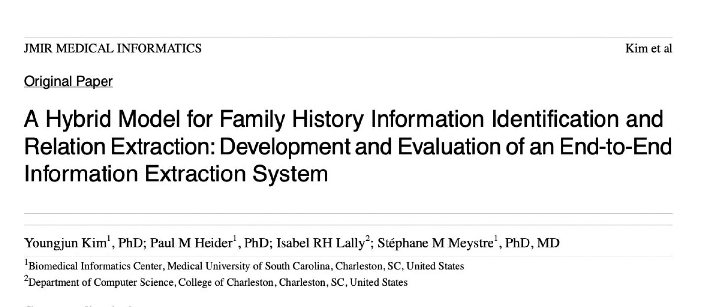 A Hybrid Model for Family History Information Identification and Relation Extraction: Development and Evaluation of an End-to-End Information Extraction System