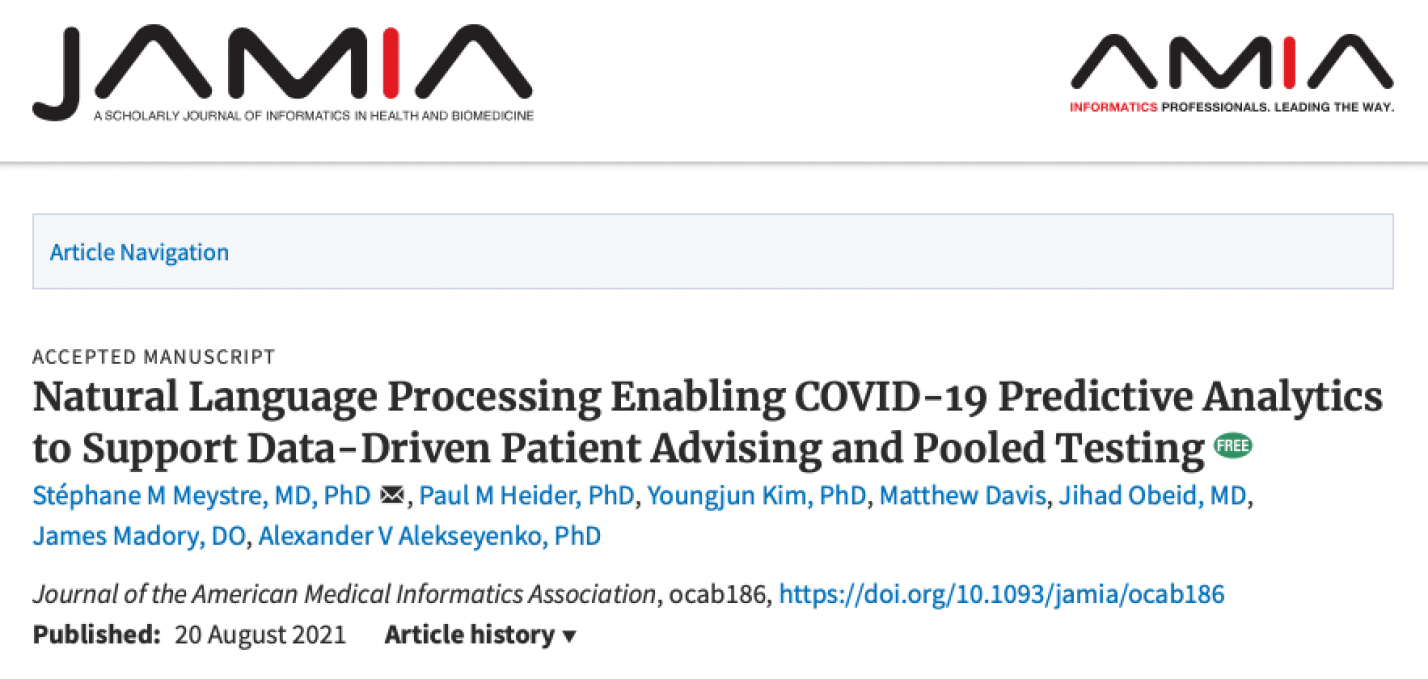 Natural Language Processing Enabling COVID-19 Predictive Analytics to Support Data-Driven Patient Advising and Pooled Testing